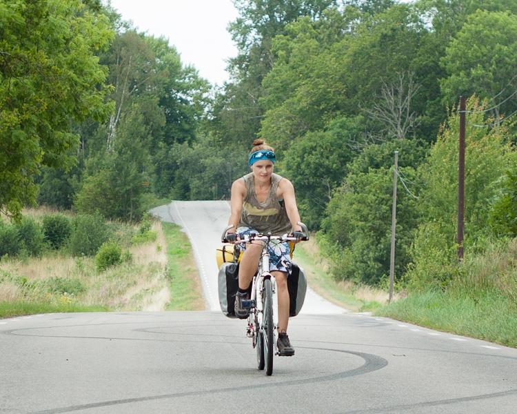 rowerowa wyprawa do Szwecji z dzieckiem w przyczepce