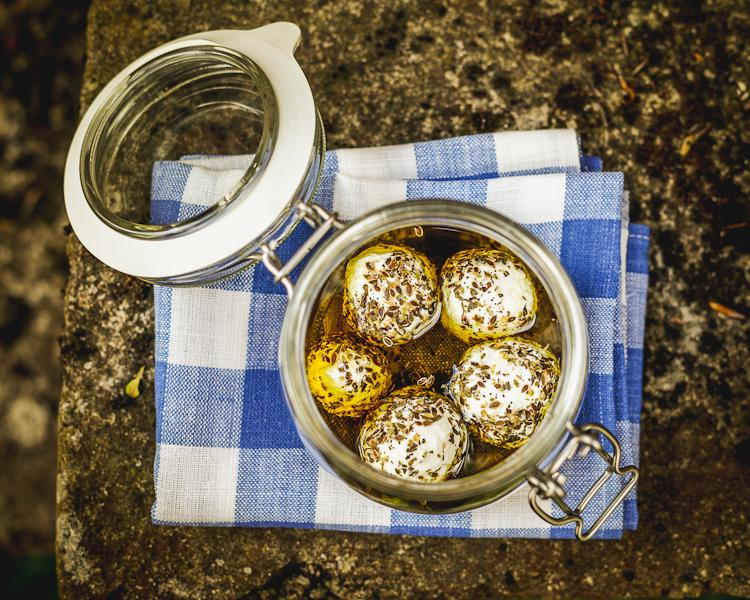 Labneh balls in Olive Oil and herbs