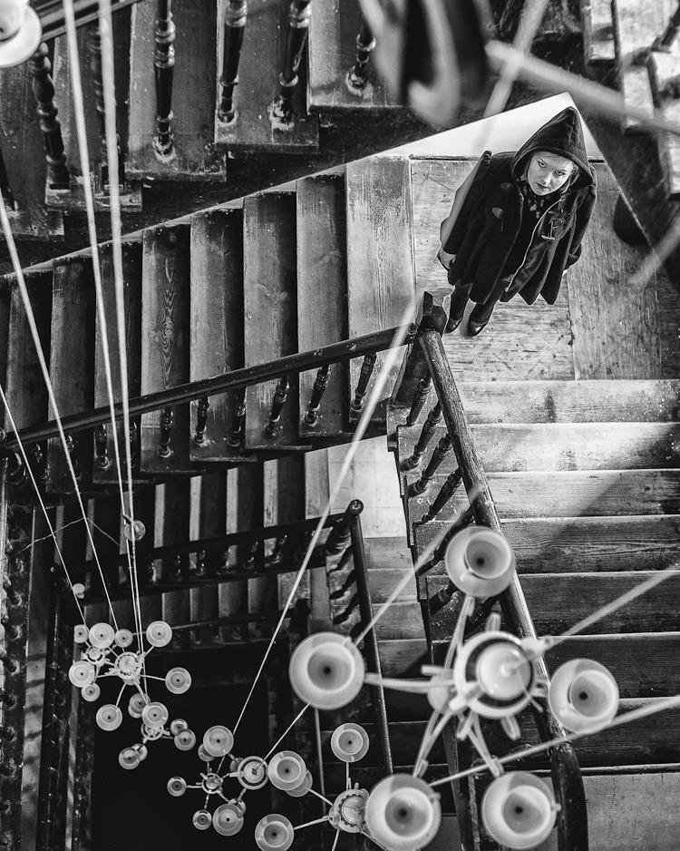 klatka schodowa kamienicy gdańskiej w stylu XIXw