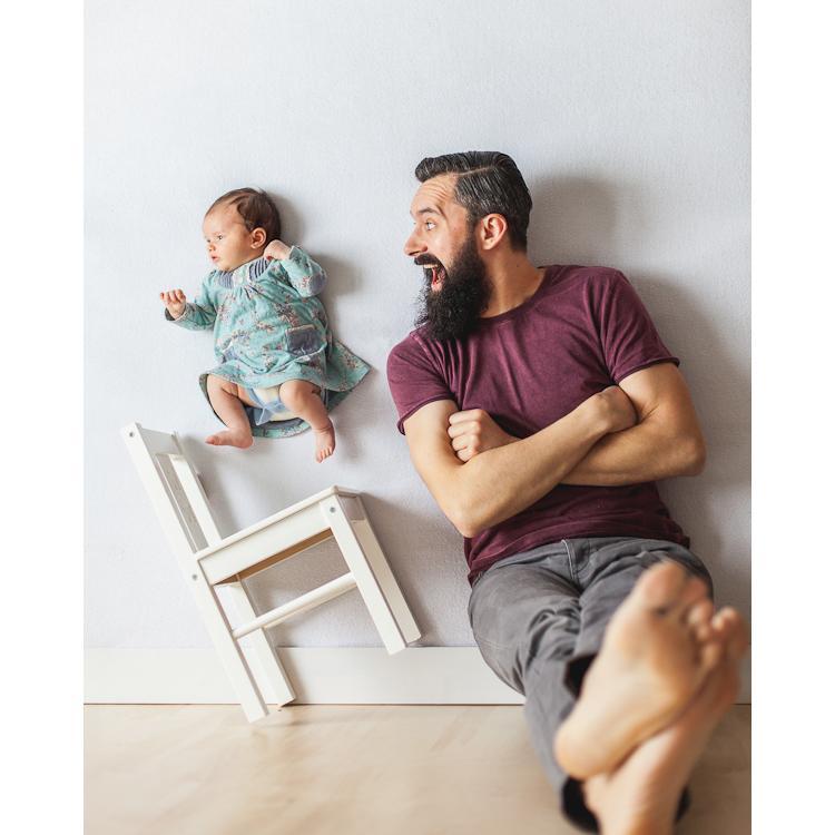 daddy daughter, bapa dan anak, abah dan anak, gambar menarik newborn, kreatif,