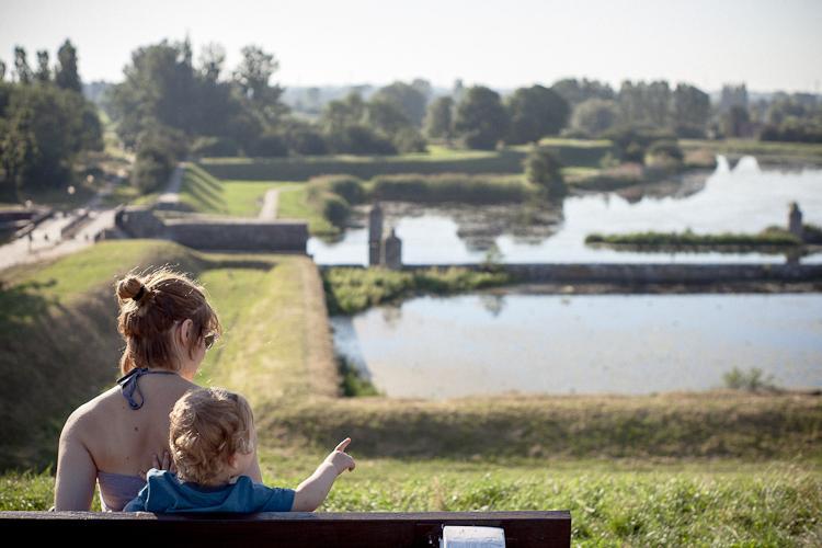 Piękny widok na opływ Motławy z bastionu Żubr
