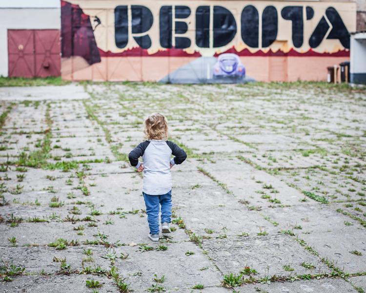 Leo na dziedzińcu centrum Reduta na Dolnym Mieście w Gdańsku