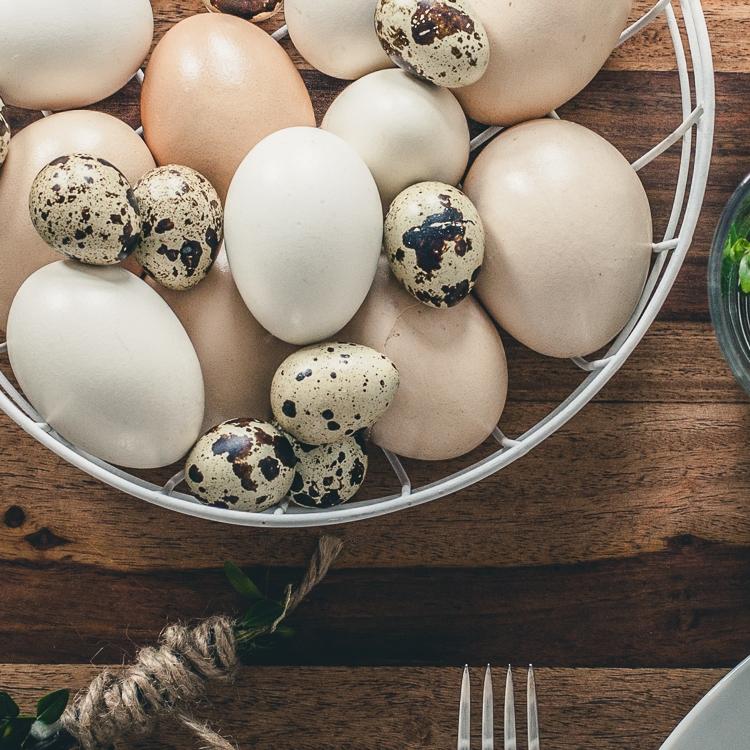 wielkanocne jajka różnej wielkości i w różnych kolorach