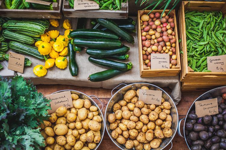 warzywa z własnej uprawy w farmie Przytoki można kupić w eko delikatesach Oficyna w centrum Gdyni