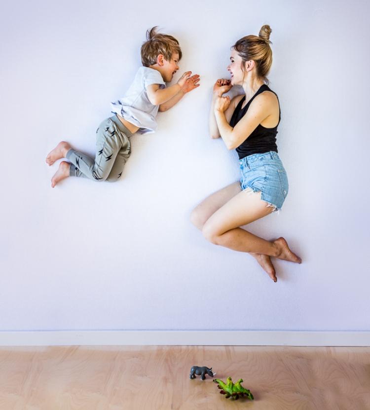niewiarygonde figury gimnastyczne mamy i synka